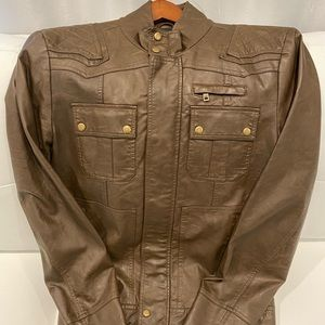 Guess Genuine leather jacket brand new